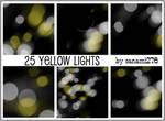 Yellow defocused lights