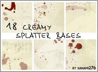 Creamy splatter bases