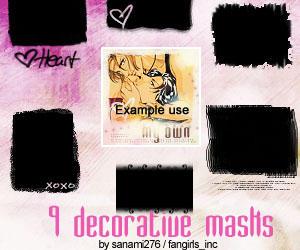 Decorative mask brushes by Sanami276