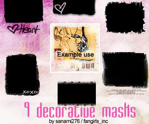Decorative mask brushes