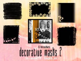 Decorative mask brushes, set 2 by Sanami276