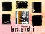 Decorative mask brushes, set 2