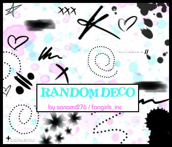 Random deco brushes by Sanami276