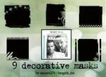 Decorative mask brushes, set 3