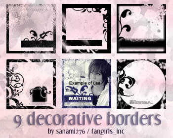Decorative borders PSP9 by Sanami276