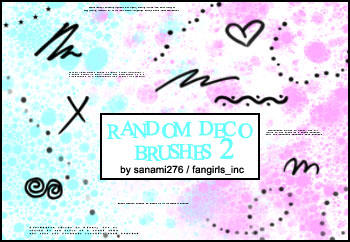 Random deco brushes 2, PS +PSP by Sanami276