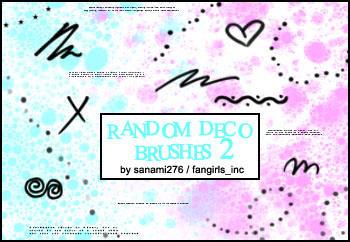 Random deco brushes 2, PS +PSP by Sanami276