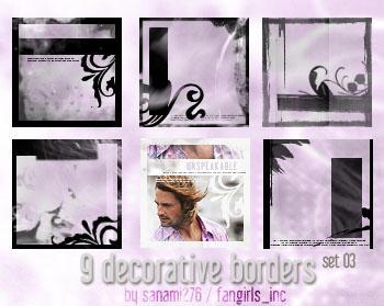 Decorative borders 03 by Sanami276