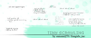 Scrawled tiny text by Sanami276