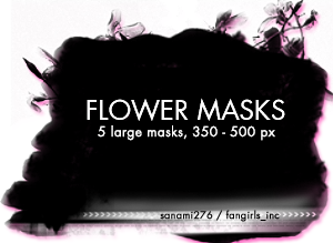 Large flower masks by Sanami276