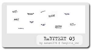 Babytext brushes, PS6