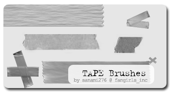 tape brushes by Sanami276
