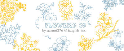 flower brushes 03 by Sanami276