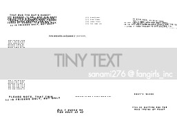Tinytext brushes by Sanami276