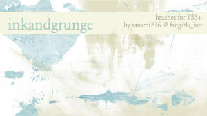 inkandgrunge brushes by Sanami276