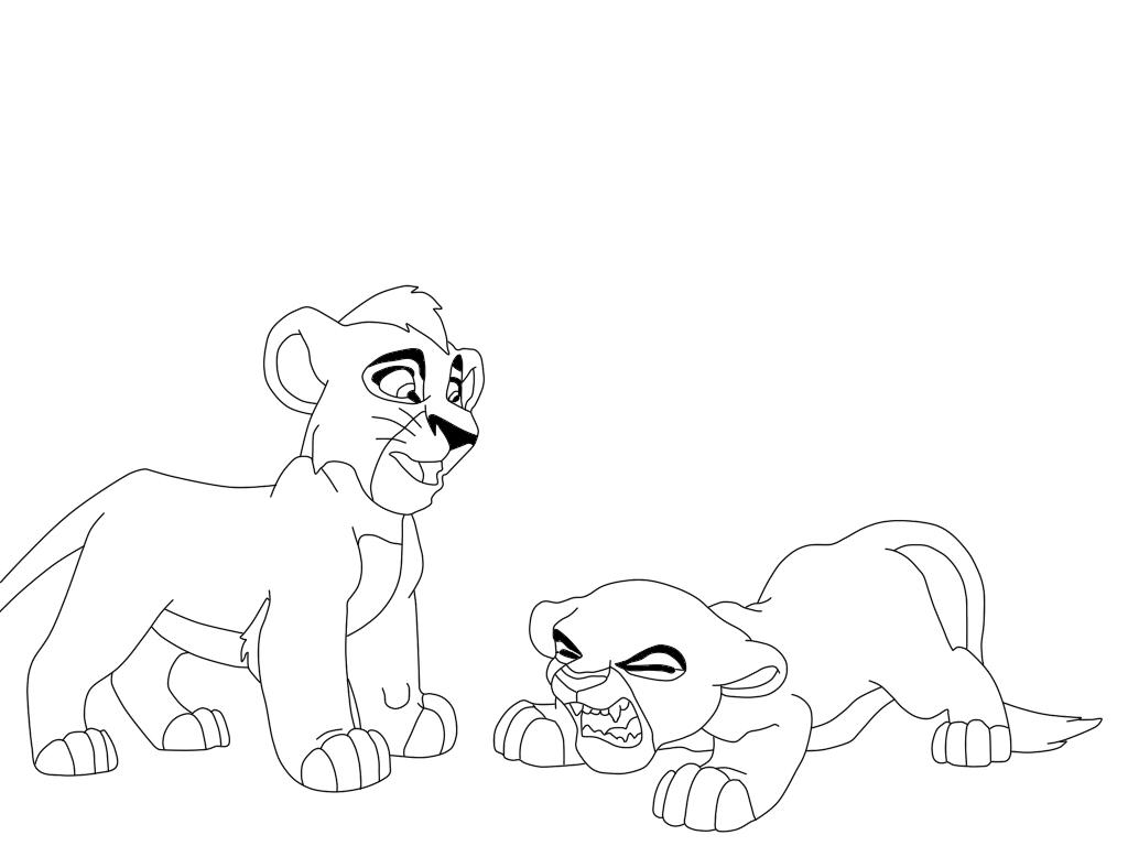 Kovu and kiara by wolfsta13 on deviantart for Kovu coloring pages