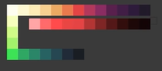 Pixel Art Colors Palette by GintasDX