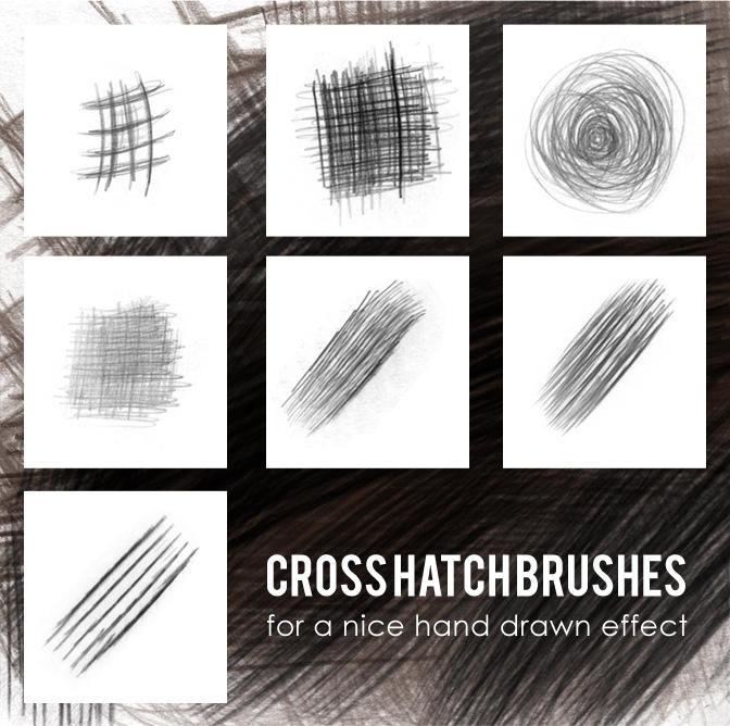 cross hatch brushes by lemosart