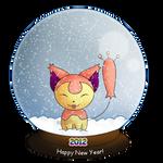 2012- Skitty Snowglobe