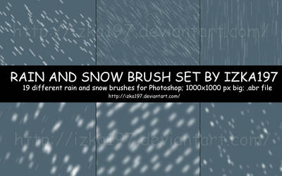 Rain and Snow Brush Set by izka197