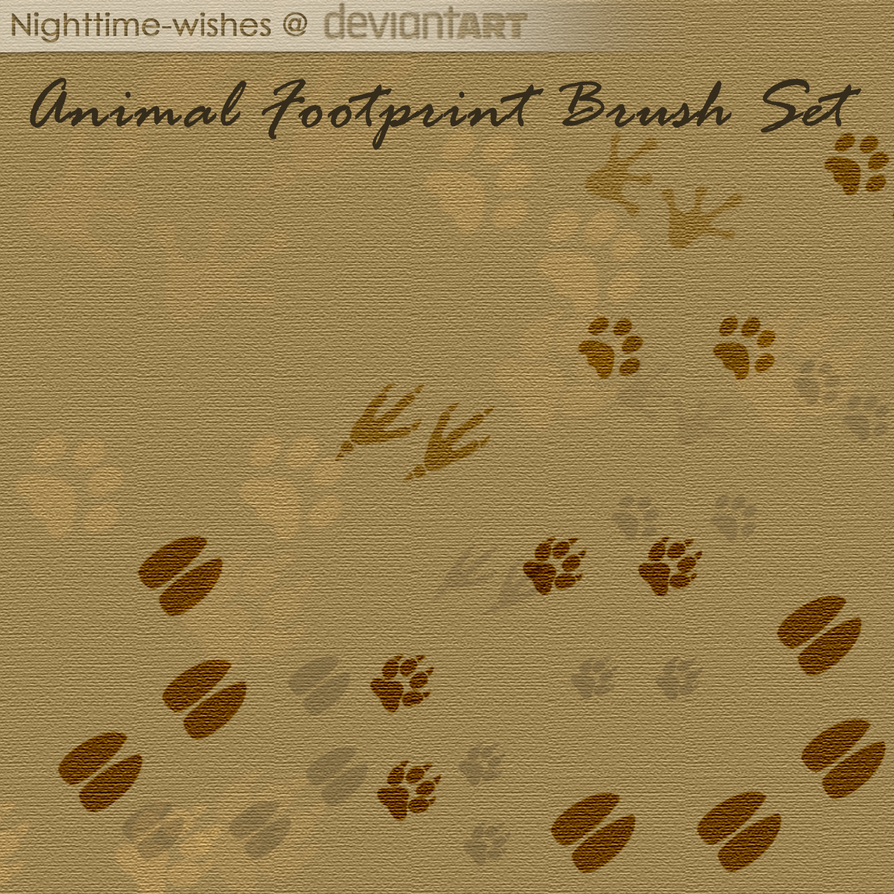 Free Animal Footprints Brush Set by petra-gergely
