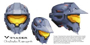 Halo Fanart: Voyager Helmet Concept Art