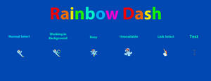 Rainbow Dash Cursor Set