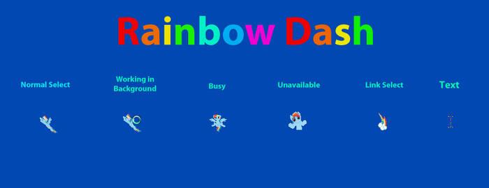Rainbow Dash Cursor Set by RDA5H