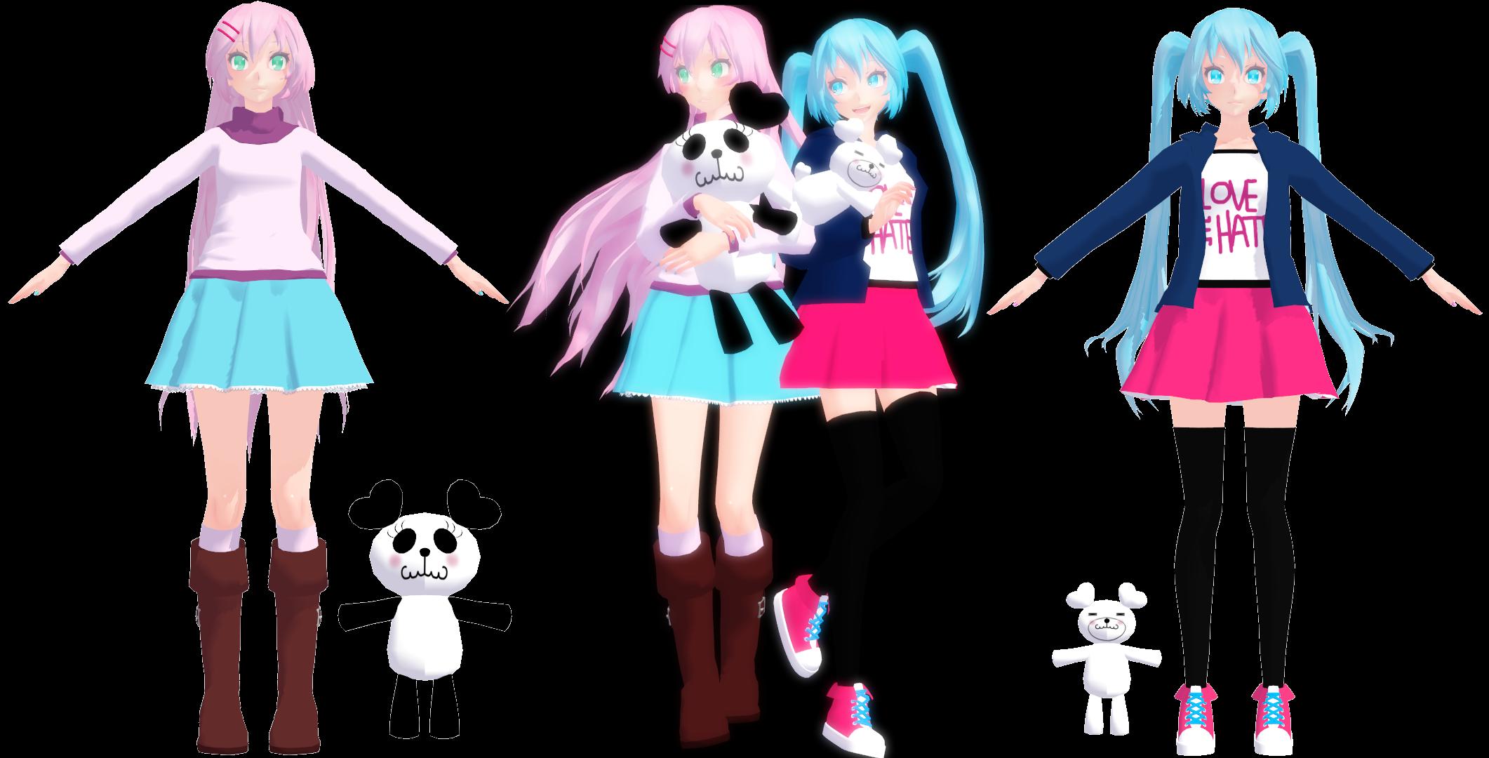 KittyNekkyo                                                                MMD Model DL