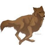 Running wolf FREE lineart + Shading by Sharaiza