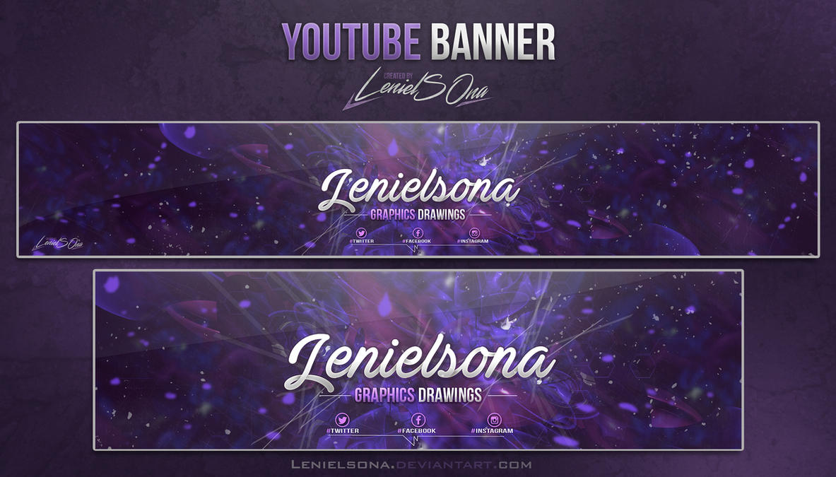Abstract Youtube Banner By LenielSOna
