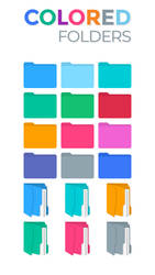 Colored Folders by KDr3w