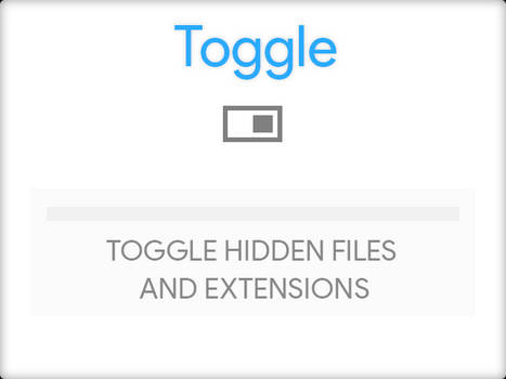 Toggle hidden files and extensions