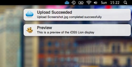 iOS5 Lion Growl