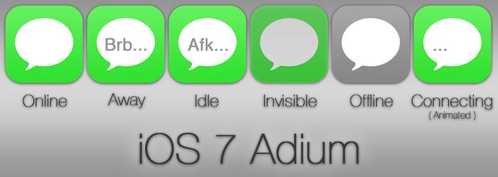 iOS 7 Adium Icon