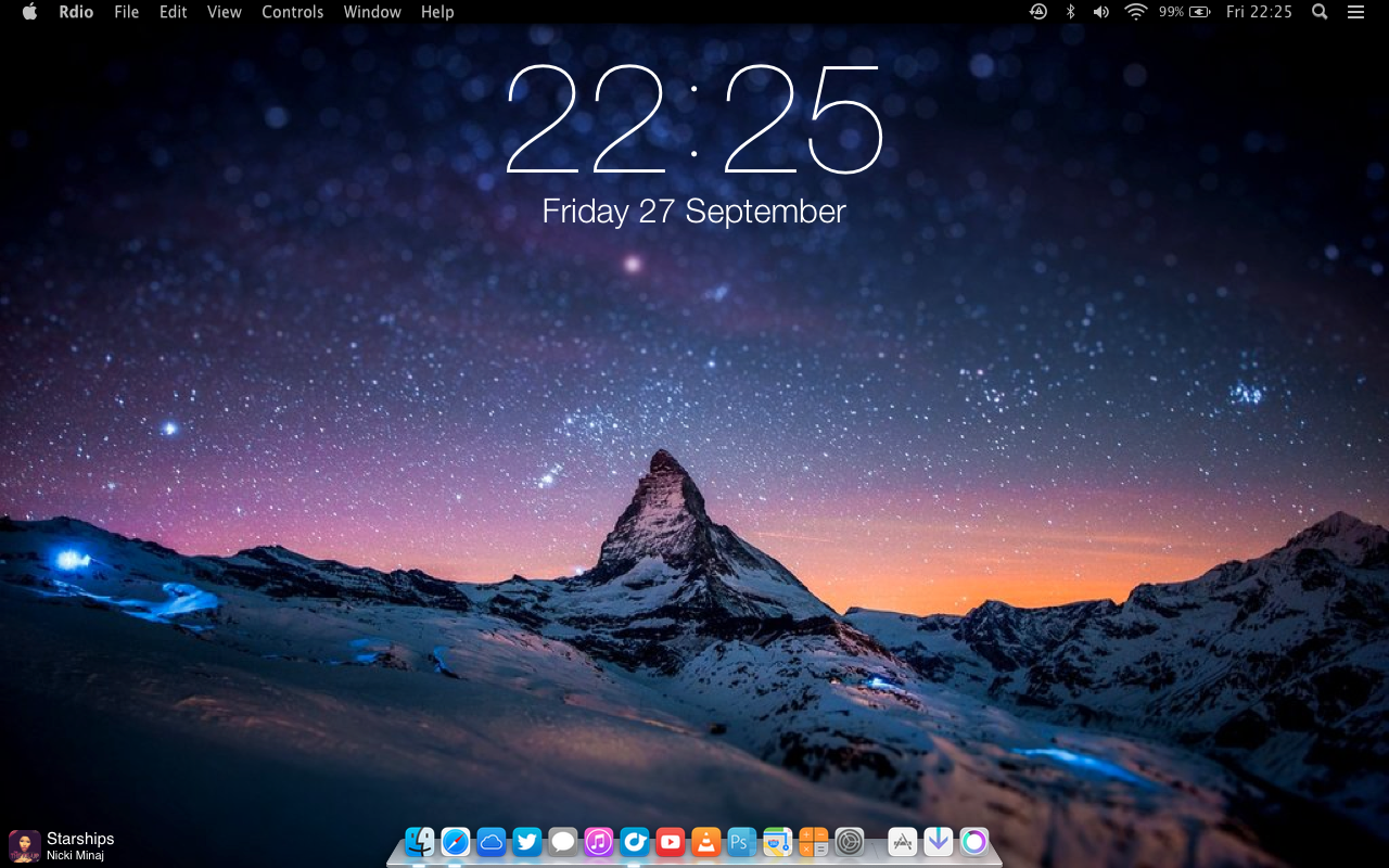 iOS 7 Clock for GeekTool by SkyJohn