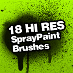 Spray Paint Splatter Brushes by itsJ2o
