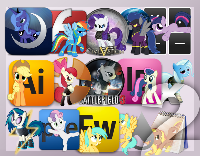 Pony Icon Set 2 by Elalition