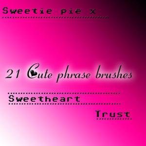 21 Cute Phrase Bushes by xfarmxgirlx