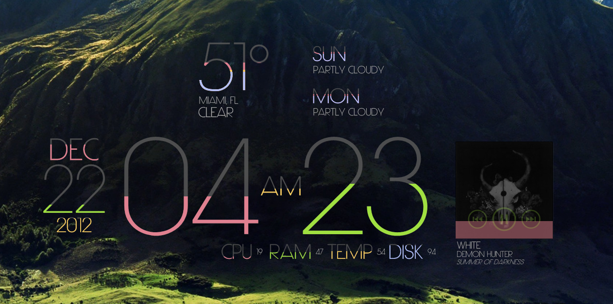 Image result for rainmeter limit teme
