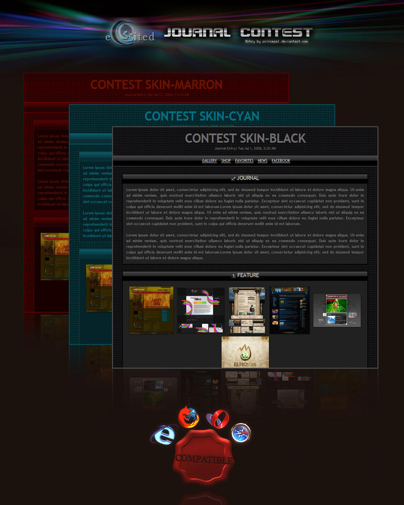 Journal Contest:: 3 SKINS by princepal