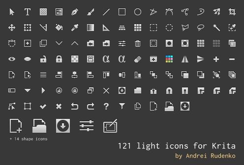Light icon set for Krita by AndreyRudenko