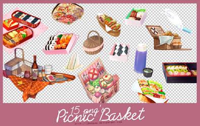 picnic basket 15 png's