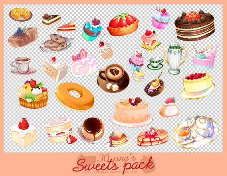 sweets pack 30 png's