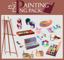 Painting png pack | 15 png