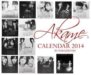 Akame Calendar 2014 by harajukyuu