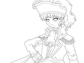 APH - Pirate King -LINEART- by chibimeganekko-tan