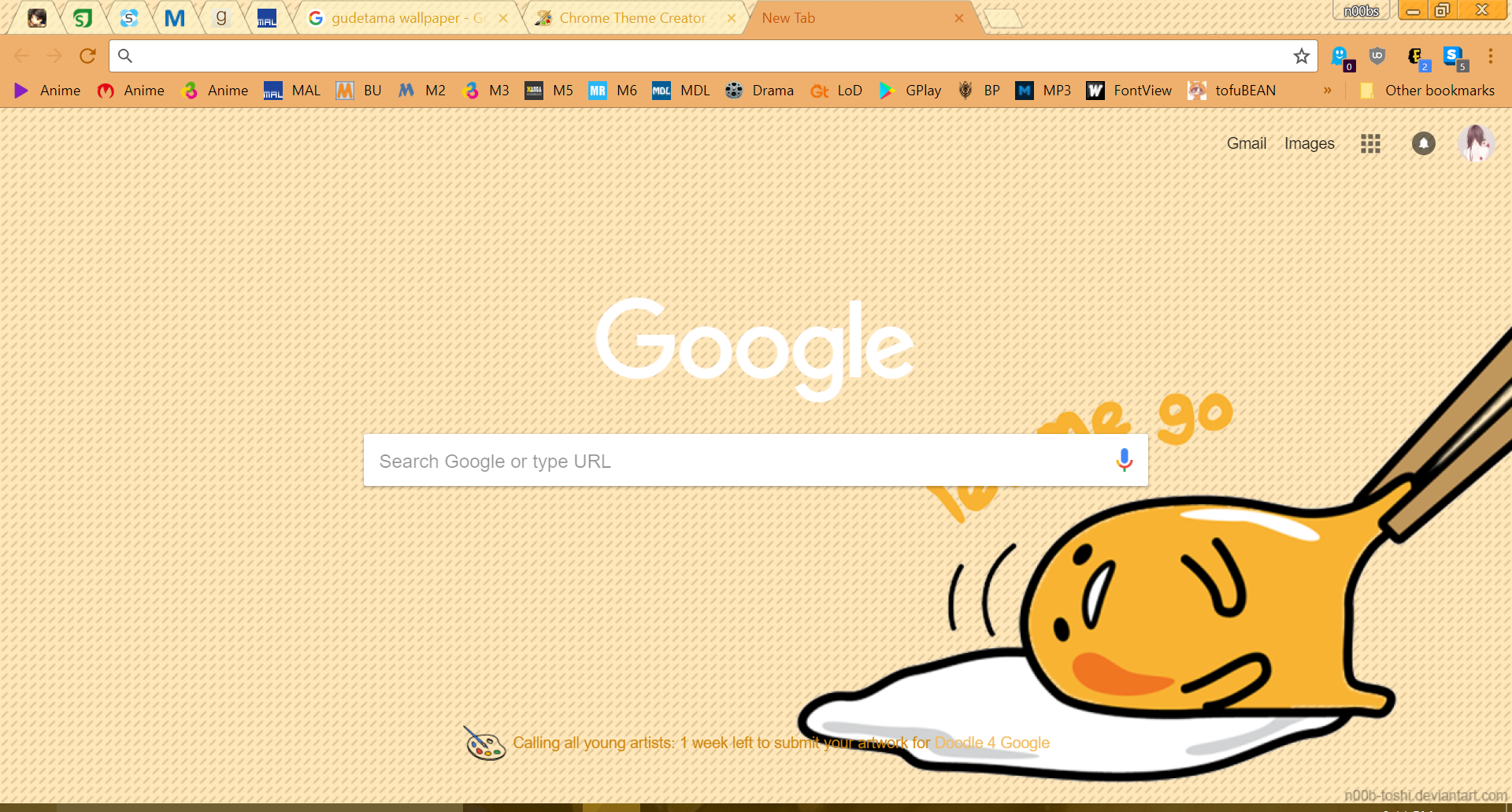 Gudetama Chrome Theme By N00b Toshi