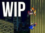 Sonic Vs Shadow (WIP #1) by Rapidfir3Pho3nix