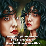 Karla Hermosillo, 2021 Gif Painting Process by carlosalbertosalva1